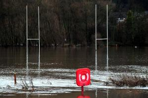 flooded rubgy pitch