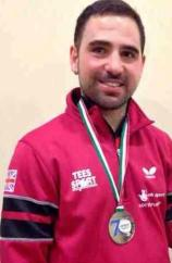 Paul Karabardak with his third medal of the week, a silver from the Lignano Master Open.