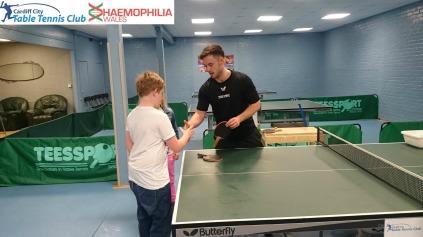 Nathan coaching Haemophilia Wales