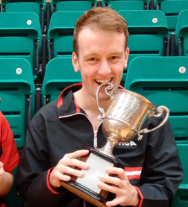Dan and trophy