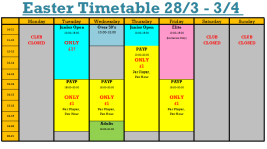 Easter Timetable Wk 2