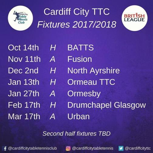 British League Fixtures